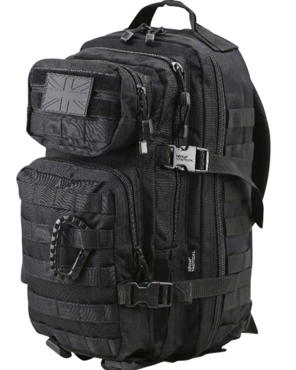 Kombat Military Sas Assault Pack 28l Black Rucksack